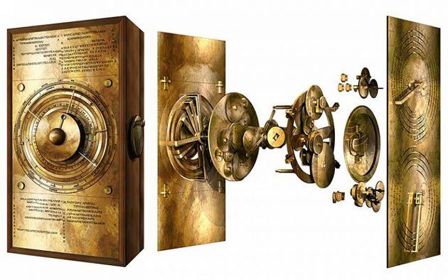 Grafische Darstellung der neuen Rekonstruktion des Mechanismus von Antikythera. Copyright/Quellet: Tony Freeth / UCL