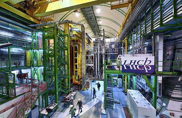 Das LHCb-Experiment ist eines der vier großen Experimente am Large Hadron Collider am CERN Copyright: CERN