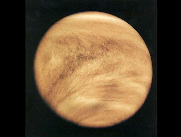 """UV-Aufnahme der Venus durch die NASA-Sonde """"Pioneer-Venus 1"""". Copyright: NASA"""