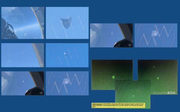 Auswahl der neu veröffentlichten angeblichen UFO-Aufnahmen des US-Militärs. Copyright/Quellen: MysteryWire.com / George Knapp / Jeremy Corbell