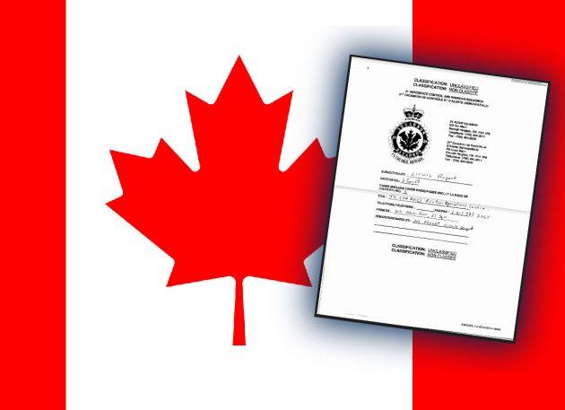 Ein offizieller kanadischer CIRVIS-Bericht über eine UFO-Sichtung im Januar 2019. Copyright/Quelle: Gemeinfrei / Vice.com