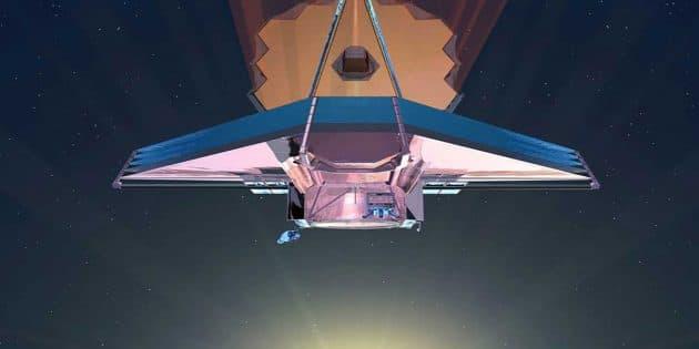 """Künstlerische Darstellung des """"James Webb Space Telescope"""" (Illu.). Copyright: NASA"""
