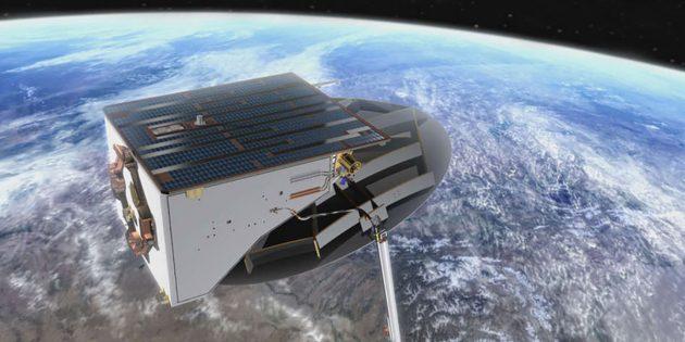 Auch die Bundeswehr betreibt- Aufklärungs- und Kommunikationssatelliten im Erdorbit (Illu.). Copyright: Bundeswehr/System AG