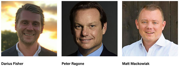 Bei den drei Gründern des UFO-Pacs handelt es sich um die politischen Aktivisten, Berater, Investoren und Unternehmer Darius Fisher, Peter Ragone und Matt Mackowiak. Quelle/Copyright: UFOpac.org