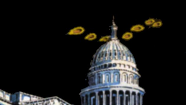 Symbolbild: UFOs über Washington (Illu.) Copyright: grewi.de