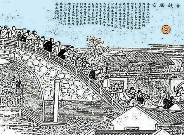 UFO über Nanjing 1892 (Illu.). Copyright_ Public Domain