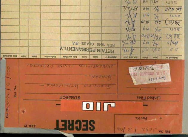 """Deckblatt der """"neu"""" veröffentlichten austraischen UFO-Akte. Copyright: NAA"""