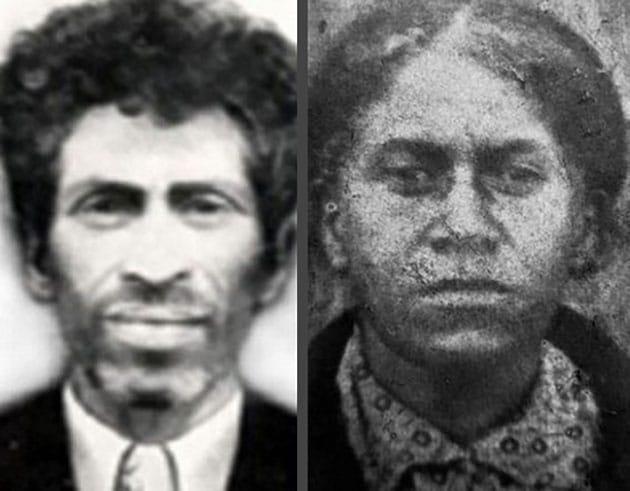 Historische Aufnahmen von Zanas Sohn Khwit und einer ihrer Enkelinnen.