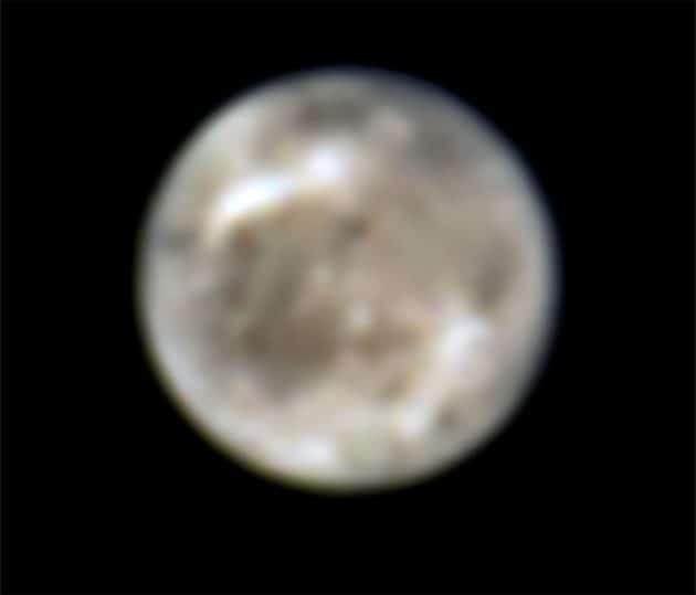 Hubble-Aufnahmen des Jupitermondes Ganymed von 1998 Copyright: SCIENCE: NASA, ESA, John Spencer (SwRI Boulder)