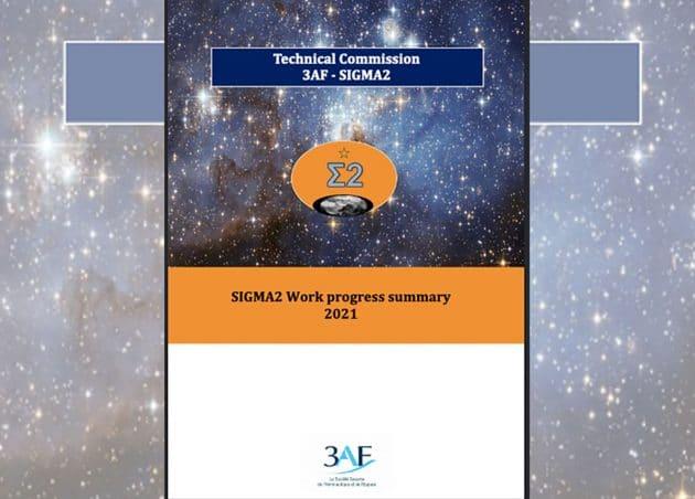 """Titel der englischen Übersicht des """"SIGMA2 Work progress summar 2021"""" Copyright: 3AF"""