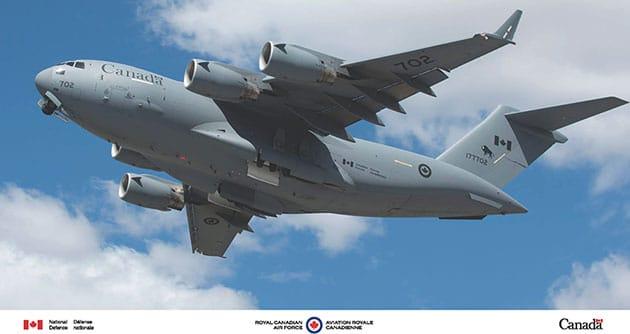 Eine CC-177 Globemaster III der kanadischen Luftwaffe. Copyright/Quelle: http://www.rcaf-arc.forces.gc.ca/