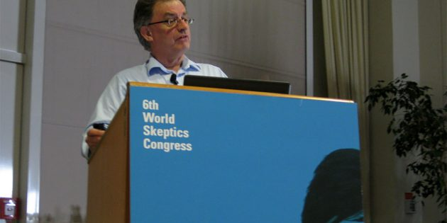 Chris French auf dem World Skeptics Congress 2012 in Berlin. Copyright: Tokenskeptic (via WikimediaCommons) / CC BY-SA 3.0