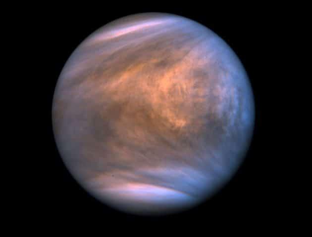 UV-Aufnahmen der Venus durch die japanische Sonde Akatsuki Copyright: JAXXA