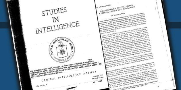 """Beispiele der CIA-Akten zum CIA/DIA-Projekt """"Stargate"""", während dessen von 1972 bis 1995 übersinnliche Phänomene und deren potenzieller geheimdienstlicher Nutzen untersucht wurden. Copyright/Quelle: CIA.gov"""